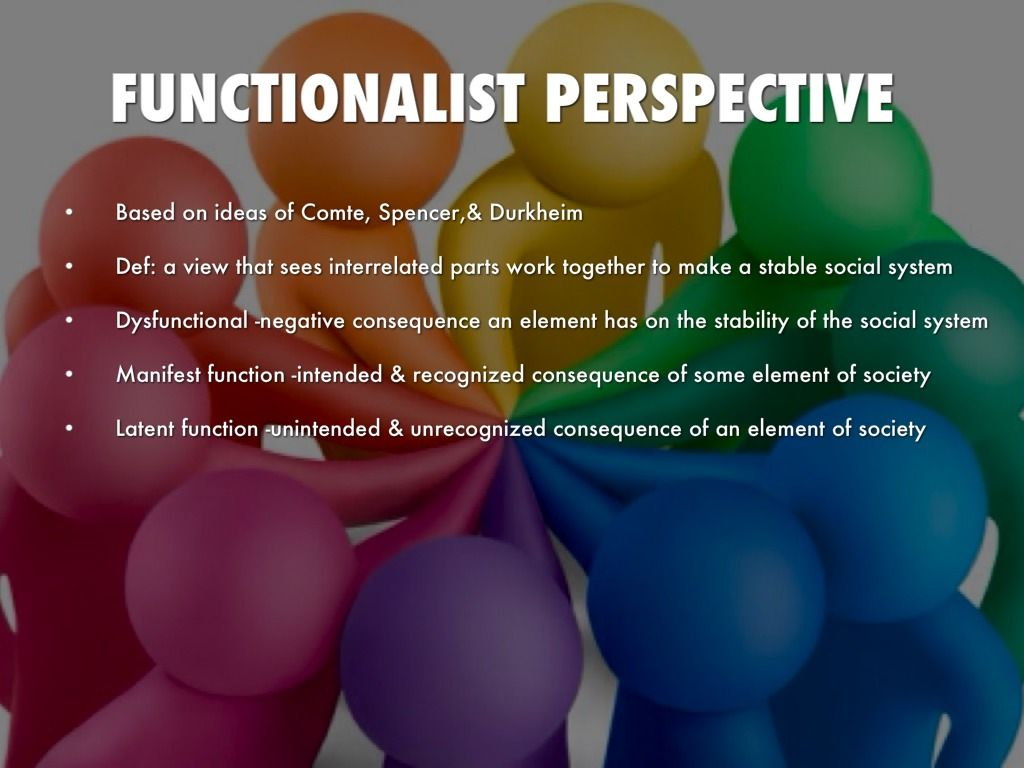 the functionalist view on education for Assessing the role of education from the functionalist perspective functionalists believe that education performs very important roles for individuals, the economy and the wider social structure.