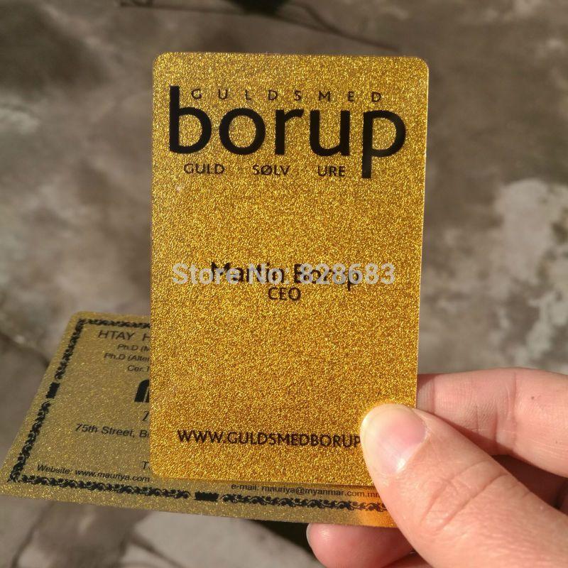 High end glossy metallic golden plastic business card custom high end glossy metallic golden plastic business card custom printing 100 cards per design reheart Choice Image