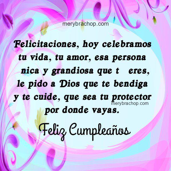 Cumpleanos De Hermana Frases Mensaje Felicitacion Dios Pinterest