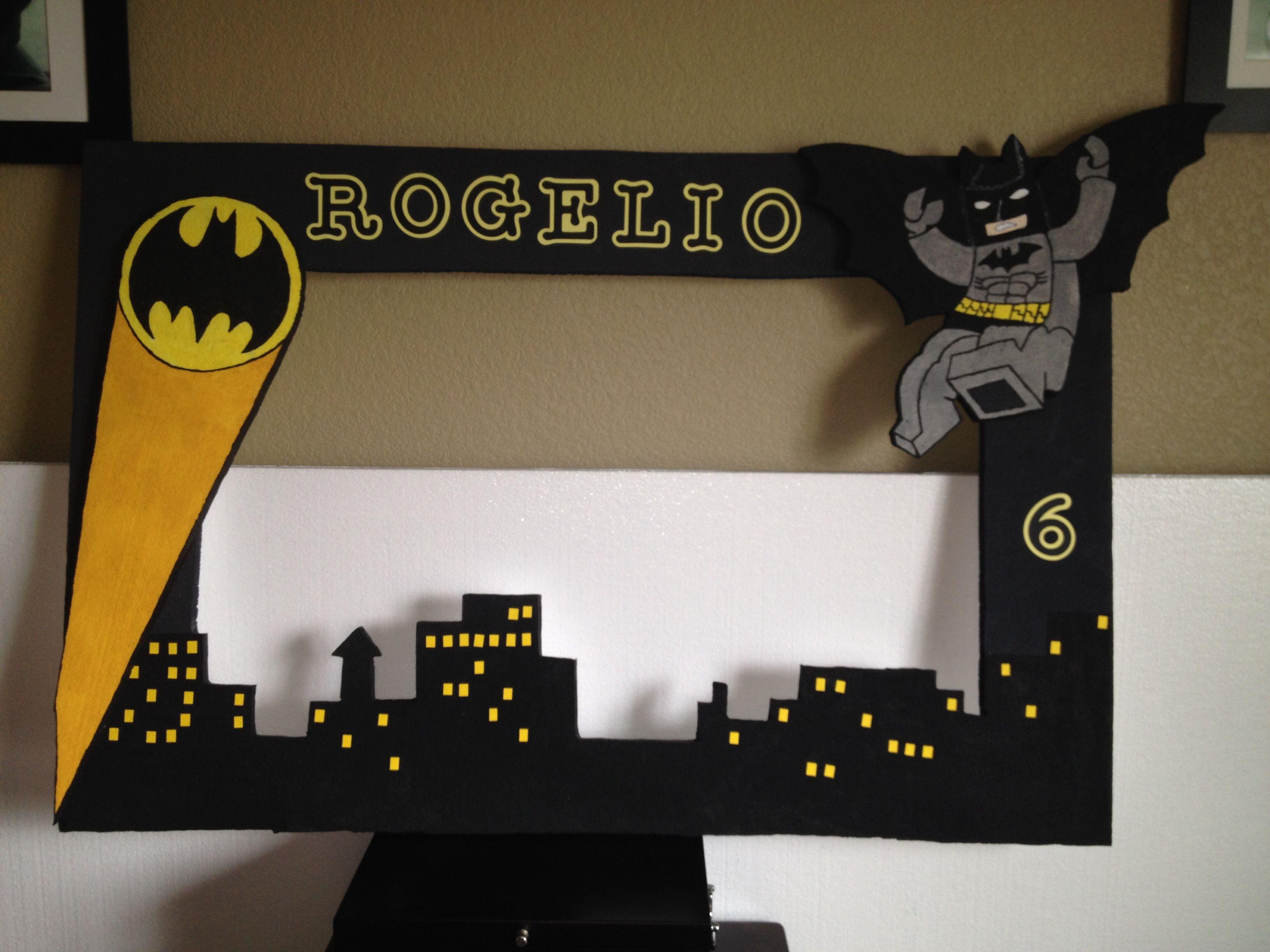 Lego Batman Styrofoam frame | Marcos Gigantes | Pinterest | Lego ...