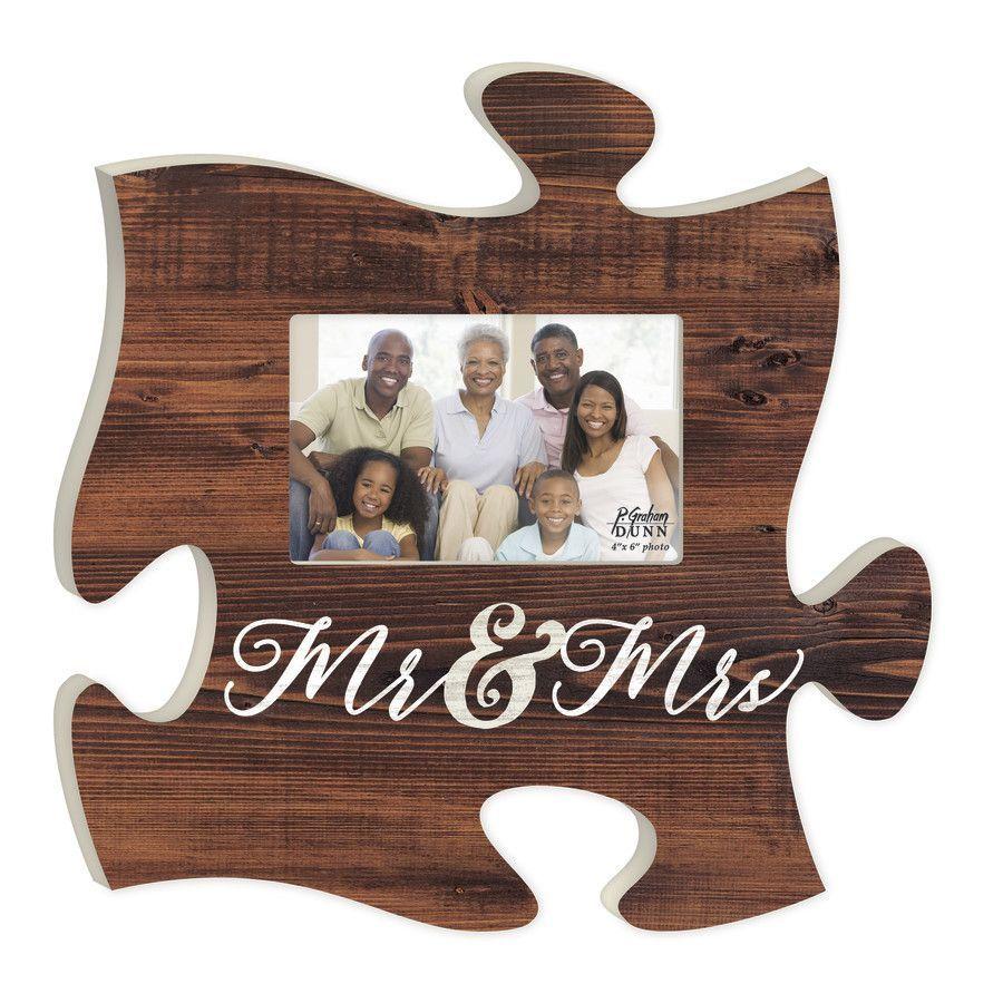 Mr & Mrs Photo Frame Puzzle art, Puzzle frame, Puzzle