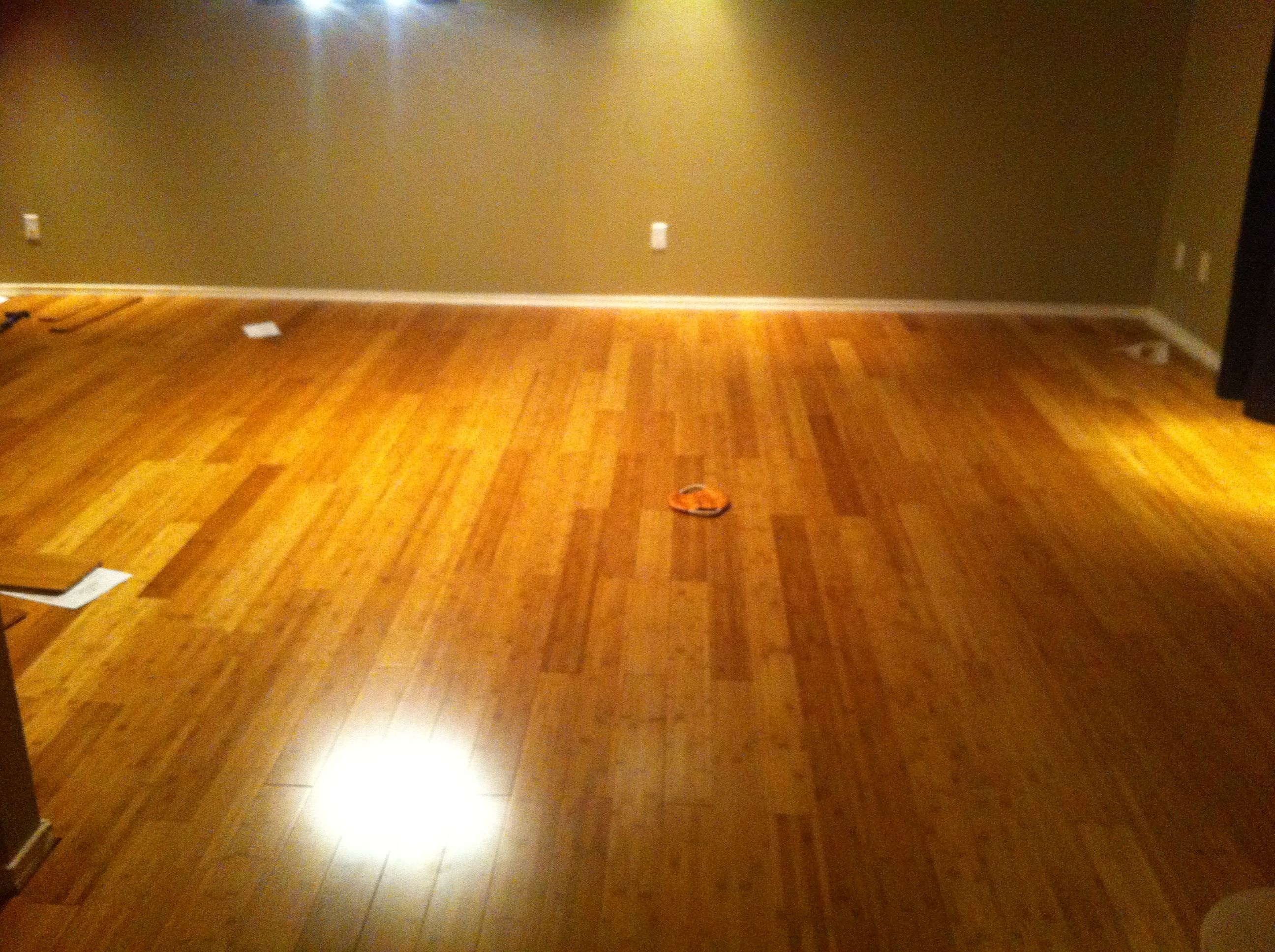 "I m putting down ""Toast"" colored solid bamboo flooring in the loft"