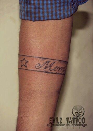 Mom Dad Arm Belt Tattoo Arm Band At Evilz Tattoo By Manish Muchhadiya 9662034466 Tattoos Mom Dad Tattoos Dad Tattoos