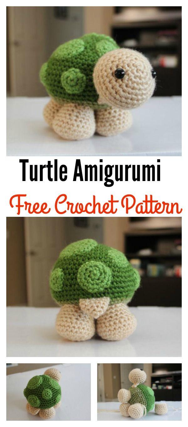 Crochet Turtle Amigurumi Free Patterns | Amigurumi häkeln, Amigurumi ...