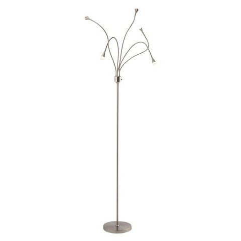 Adesso Firefly Led Floor Lamp Silver Silver Floor Lamp 5 Light Floor Lamp Silver Lamp