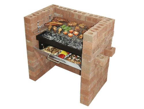 Build In Grill And Bake With Bricks And Food Dream