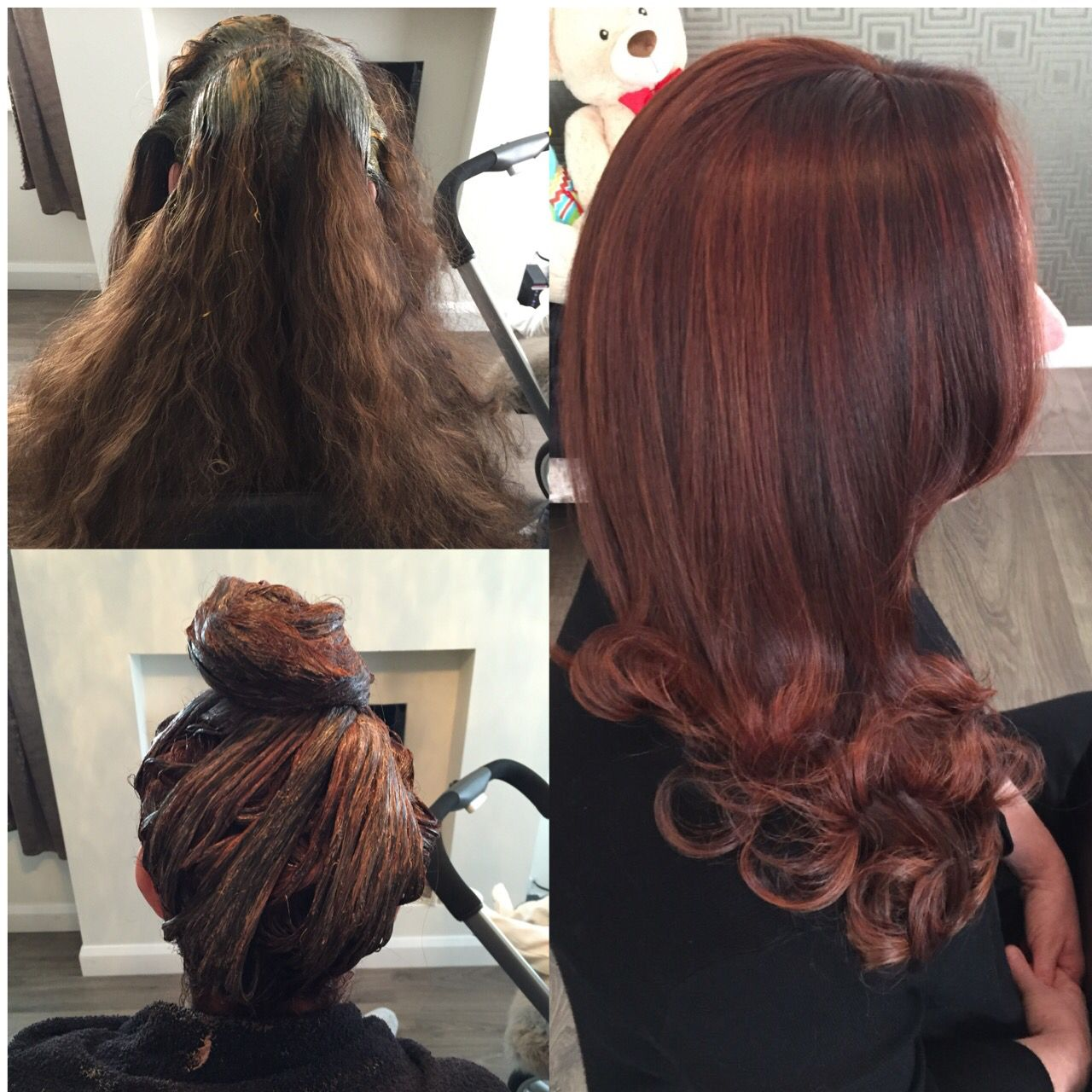 The process of transformation Hair makeover, Long hair