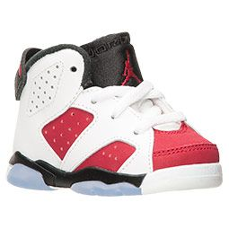 c648391e8fbcc1 Boys  Toddler Air Jordan Retro 6 White Carmine Black
