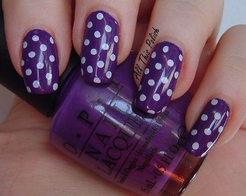Purple Nails uas color purpura indigo morado violeta uas