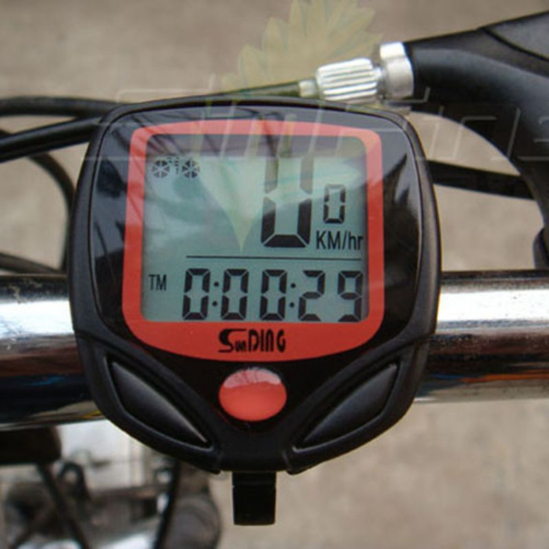 New Cycling Bike Bicycle Wired Cycle Computer Odometer Speedometer