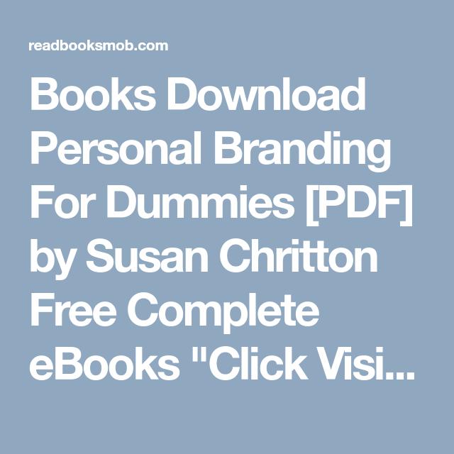 Personal Branding For Dummies Pdf