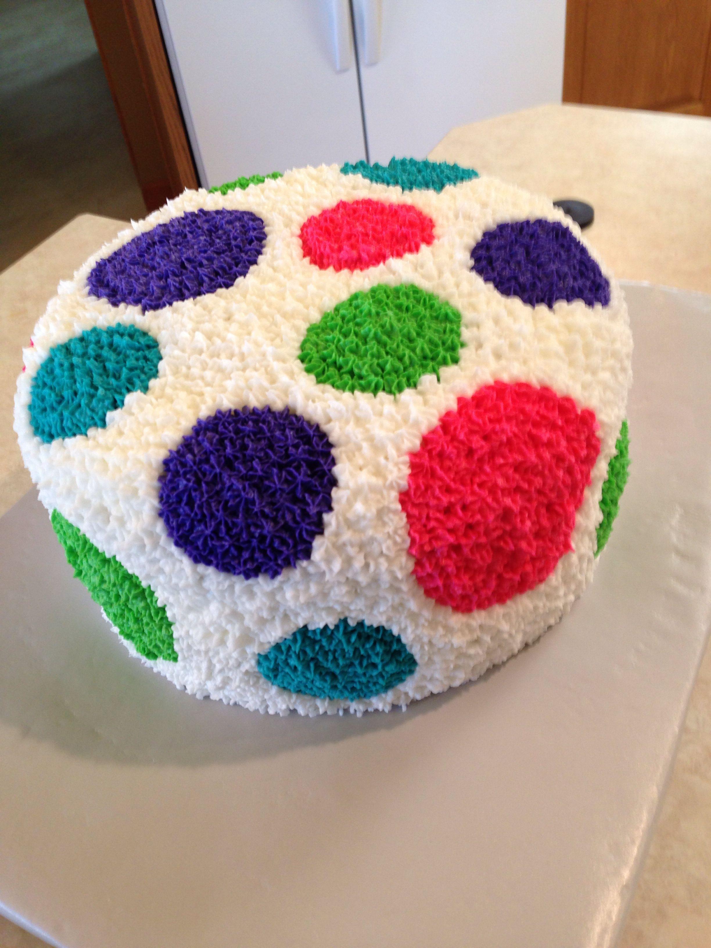 Birthday cake I made for Ellie. Inside was polka dot.