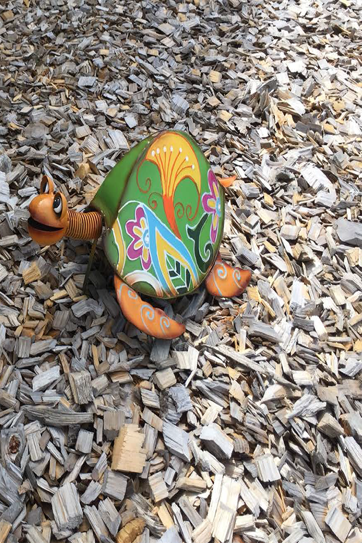 Charming Colourful Turtle , your favorite garden ornament ...