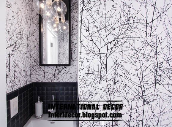 Black and white wallpaper in the interior