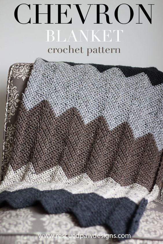 Neutral Chevron Crochet Blanket Pattern
