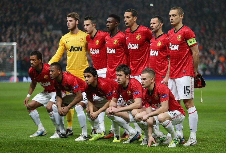 Manchester United 2012 2013 Squad Wallpaper Manchester Sepak Bola