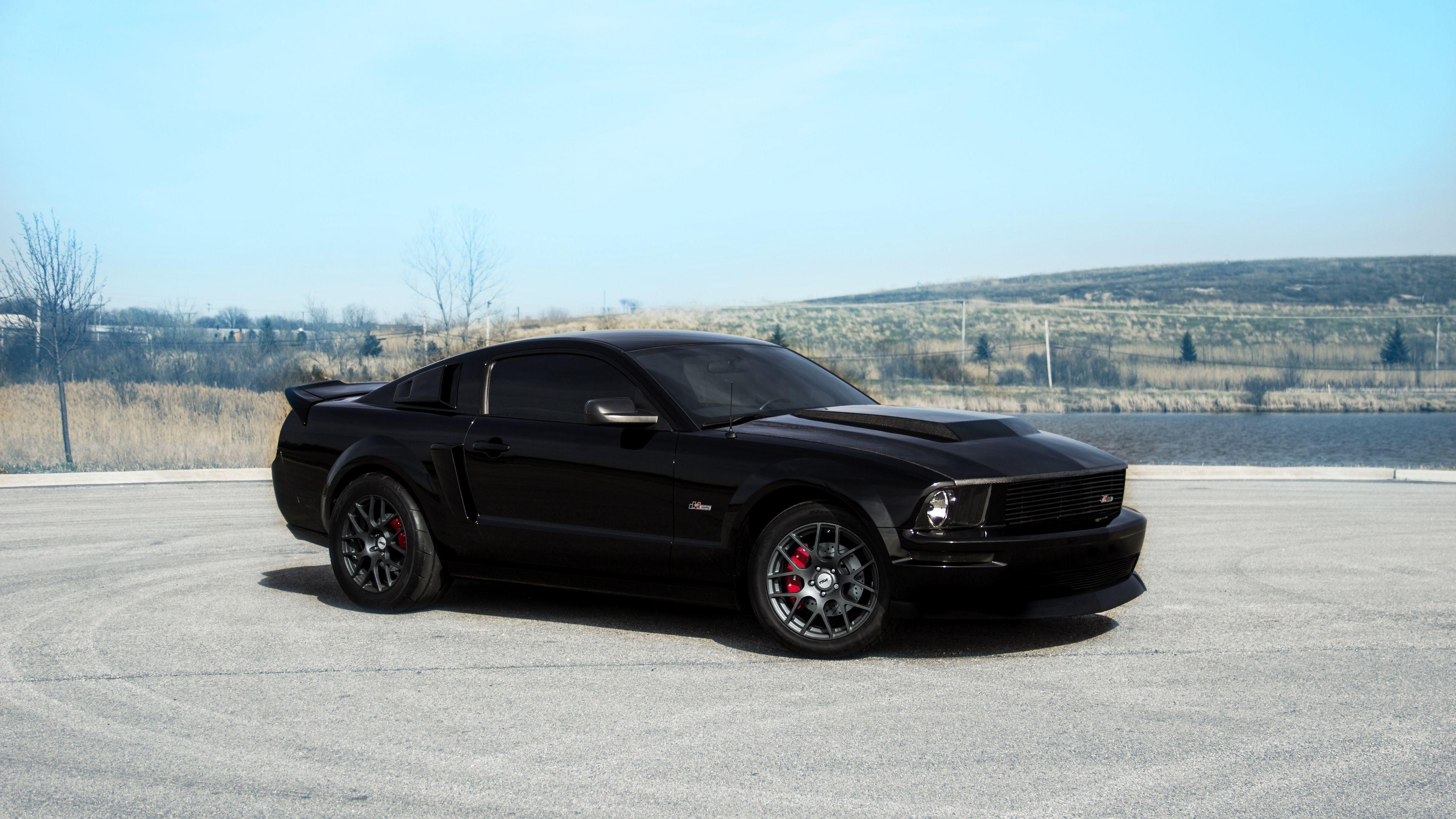 Ford Mustang Gt Black Landscape Red 4k Mustang Gt Ford Mustang Ford Mustang Gt Wallpaper Mustang Gt