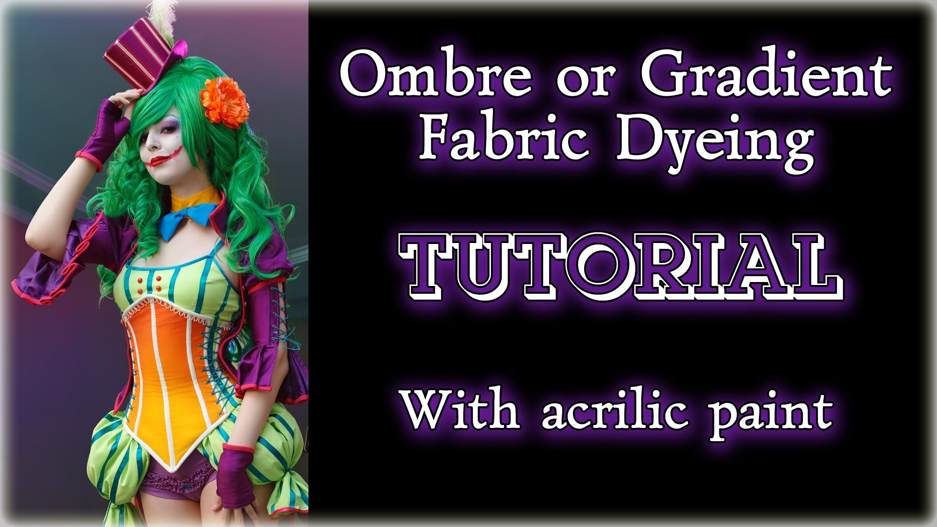 Ombre or Gradient Fabric Dyeing TUTORIAL (with acrilic paint) [Eng sub] - YouTube #dyeingtutorials