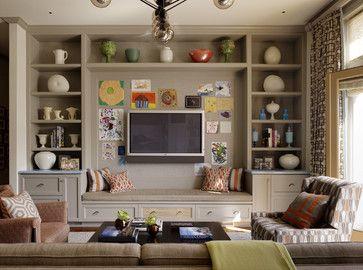 Inspiration For Living Room Built Ins Via Houzz