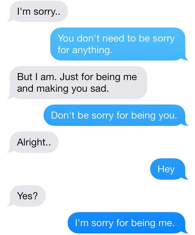 Sorry text for her