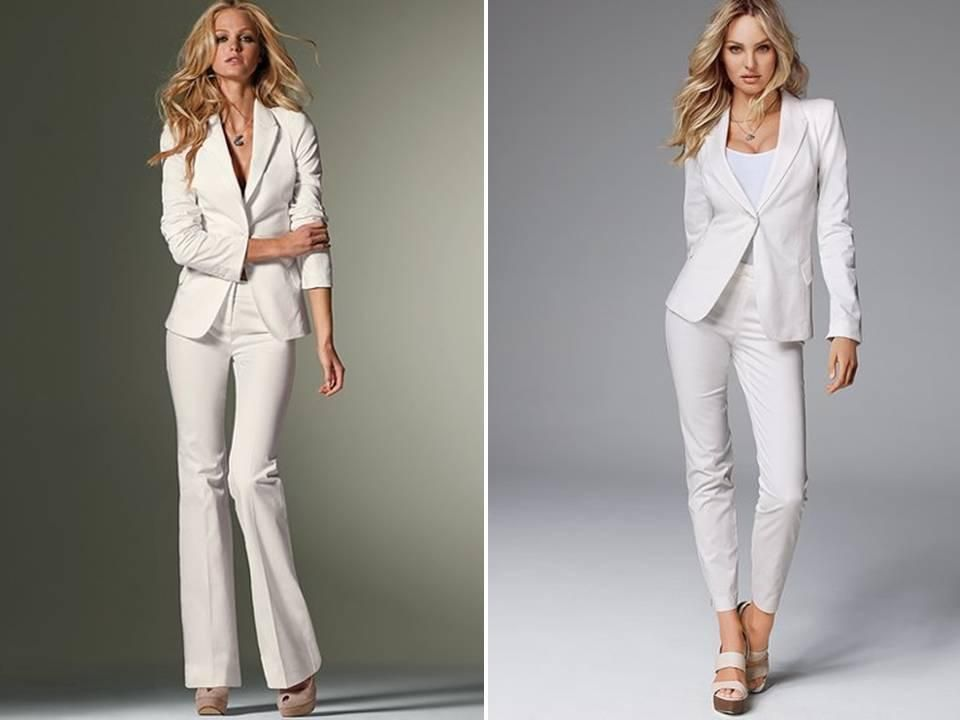 Custom Made White Women Tuxedos Peaked Lapel Suits For One