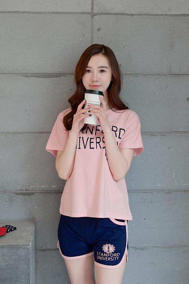 7b63100b1b CW31480 Korean style short sleeve pajamas summer sets for women ...