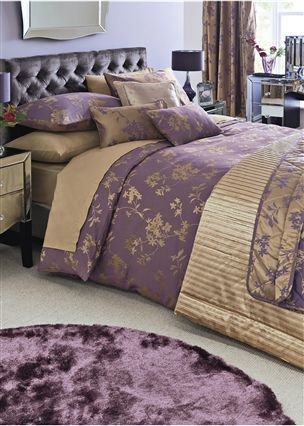 Buy plum and gold jacquard bed set from the next uk online for Plum and cream bedroom designs
