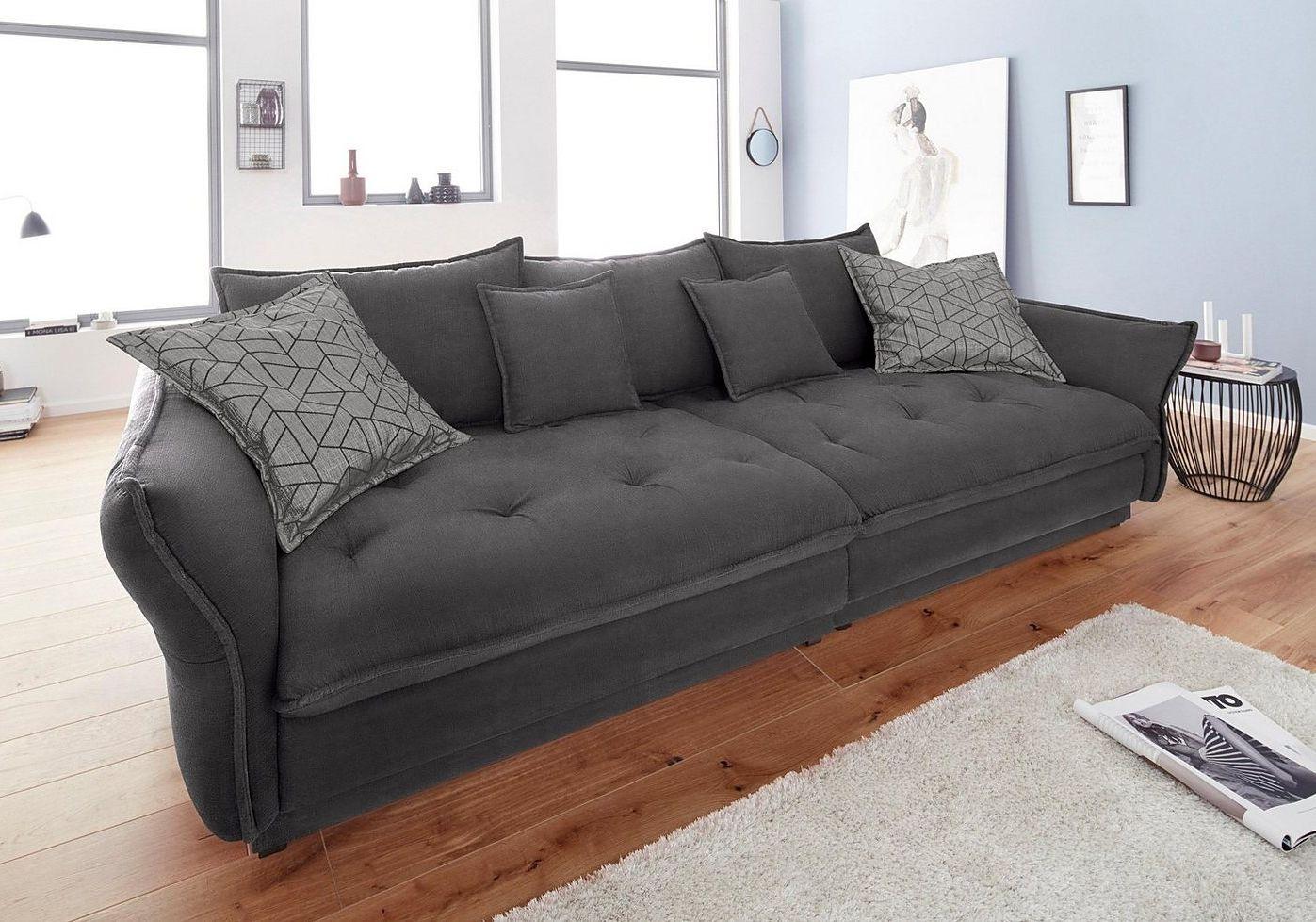 Inosign Big Sofa Palladio Wahlweise Mit Led Ambiente Beleuchtung Grosse Sofas Wohnzimmer Stil Wohnzimmer Orange