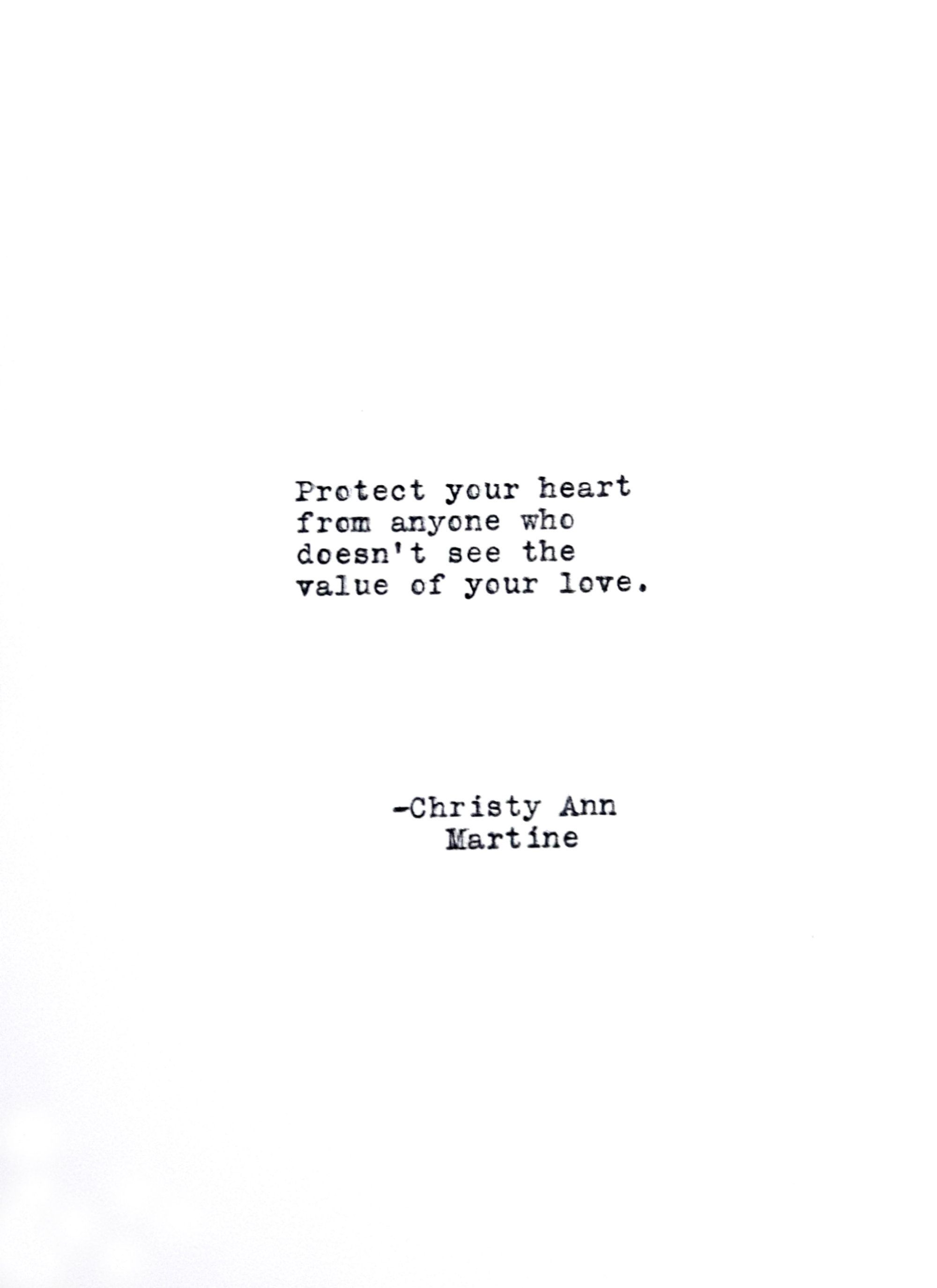 Protect Your Heart Quote Divorce Break Up Quotes Self Care Self Love Hand Typed By Poet Heart Quotes Feelings My Heart Quotes Up Quotes