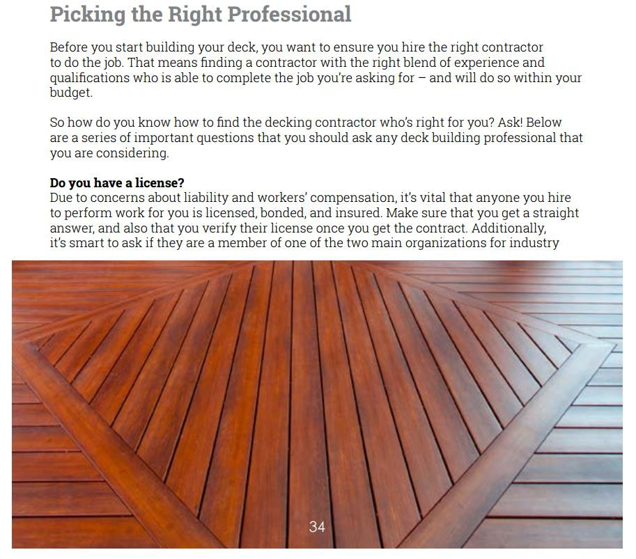 Before you start building your deck, you want to ensure you hire - how to get the job you want