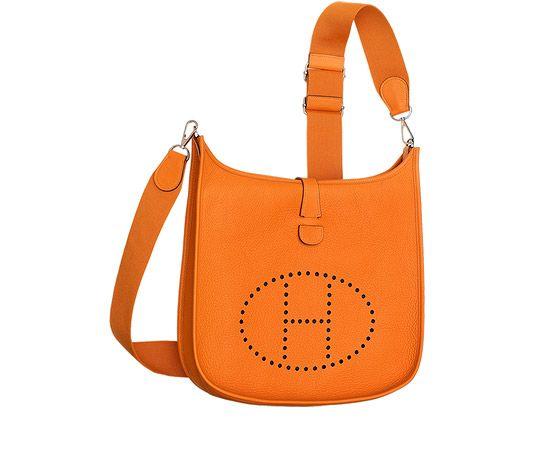 77cd903d4d1e Evelyne III 33 Hermes shoulder bag in Taurillon Clemence leather (size GM)  Measures 13