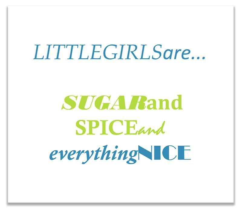 Little Girls Sugar and Spice Print Wall Art