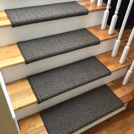 Best Aspen Moose Or Caribou 100 Wool True Bullnose™ Padded Carpet Stair Tread Runner Replacement 400 x 300