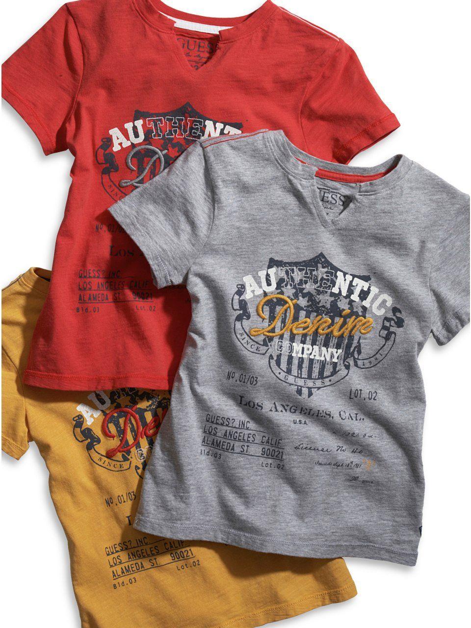 18cb89409e7b0b GUESS Kids Boys Big Boy Authentic Denim Co. Tee, GREY HEATHER (16/18 ...