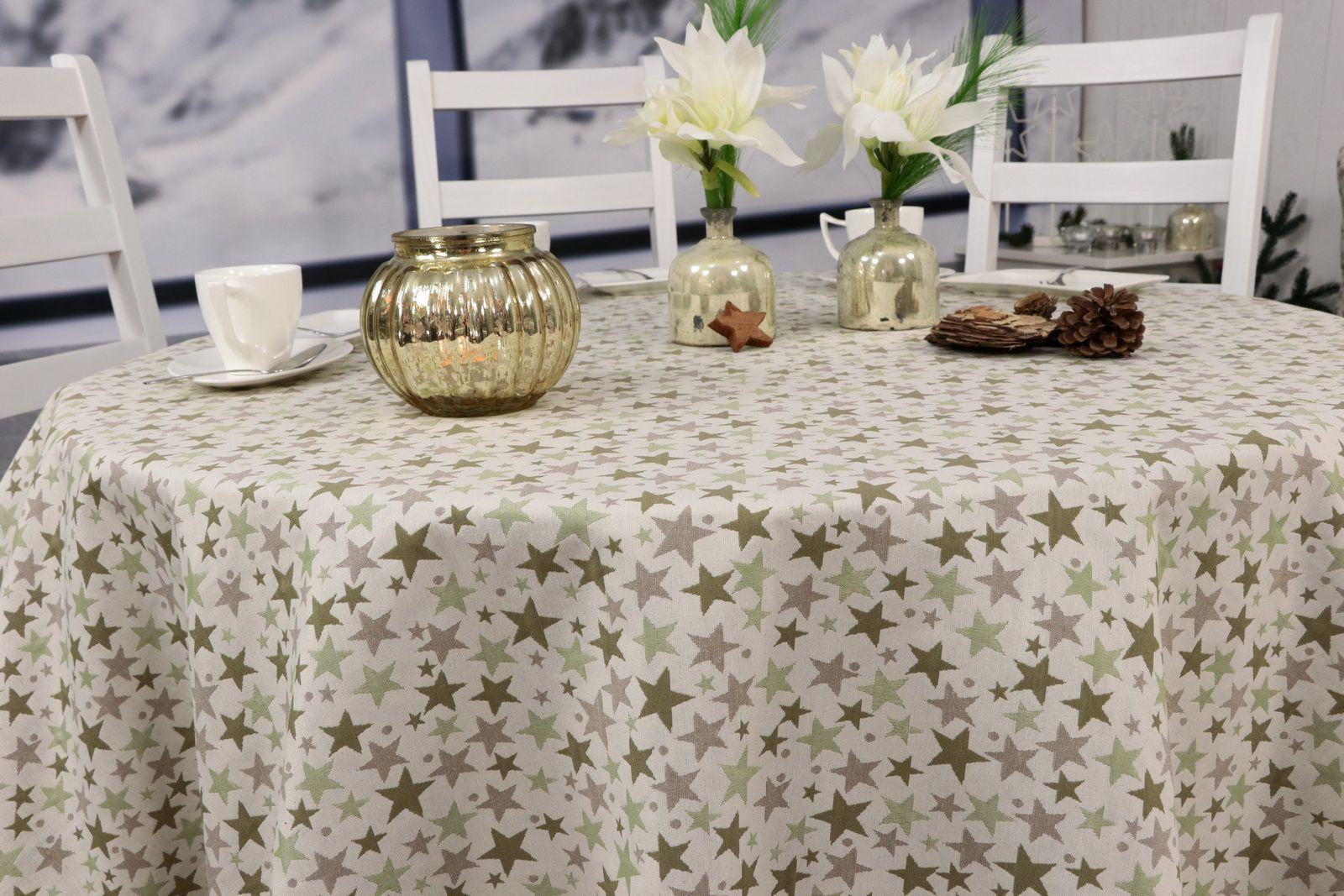 Pin Von Tischdecken Shop Tideko Auf Weihnachtstischdecken Von Www Tischdecken Shop De Dekor Runde Tischdecke