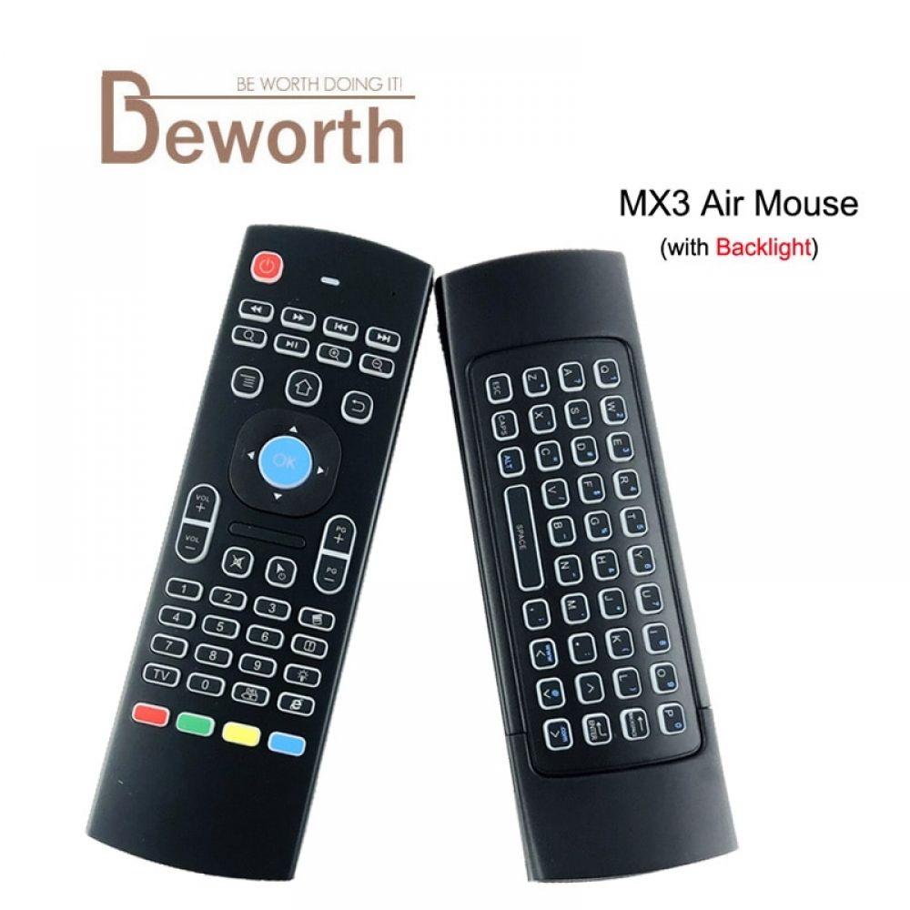 MX3 Air Mouse Backlight X8 2 4G Wireless Mini Keyboard IR Learning