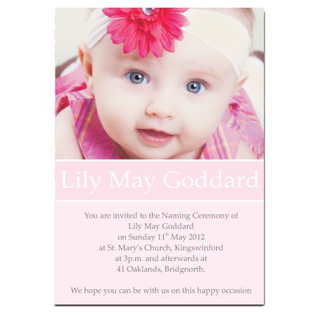 Invitation Ideas  JasonS Naming Ceremony
