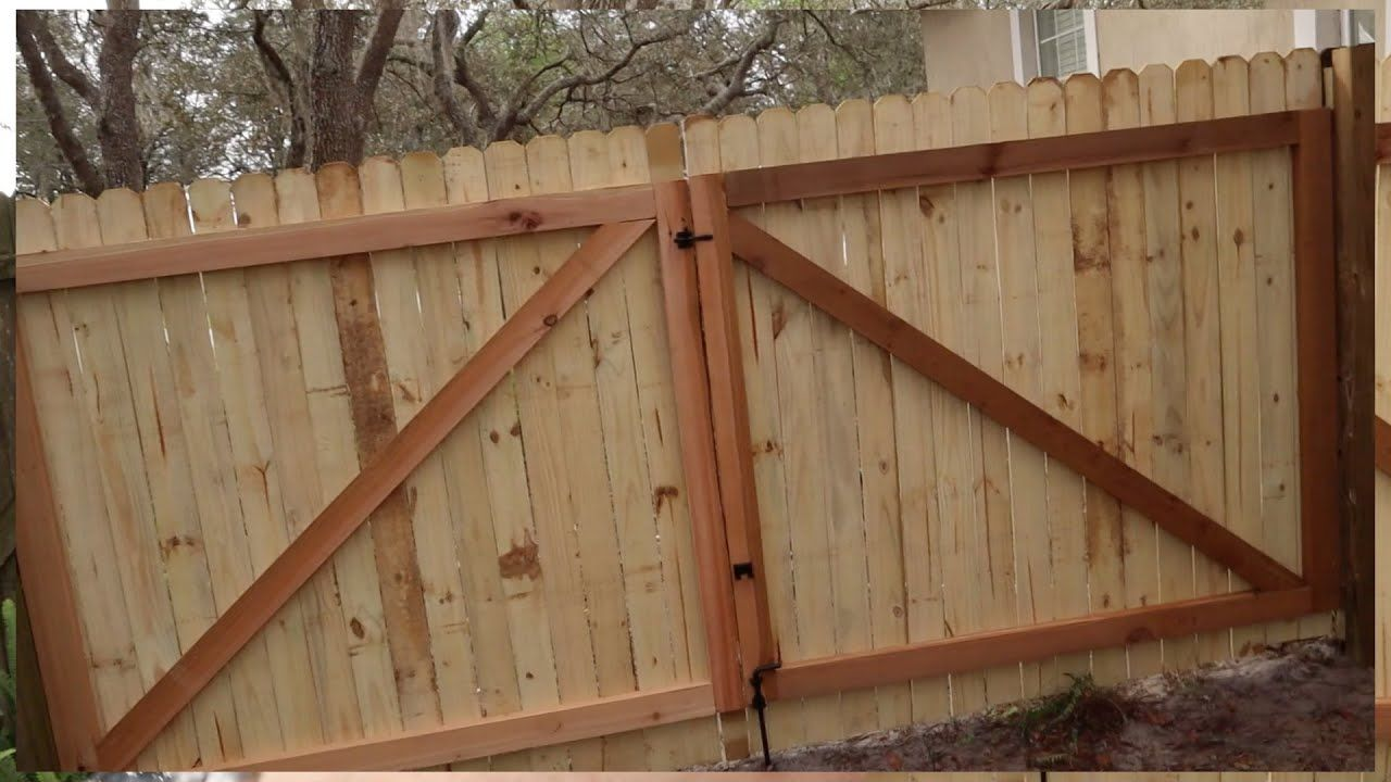 How To Build A Gate For A Wooden Fence In 2020 Building A Wooden