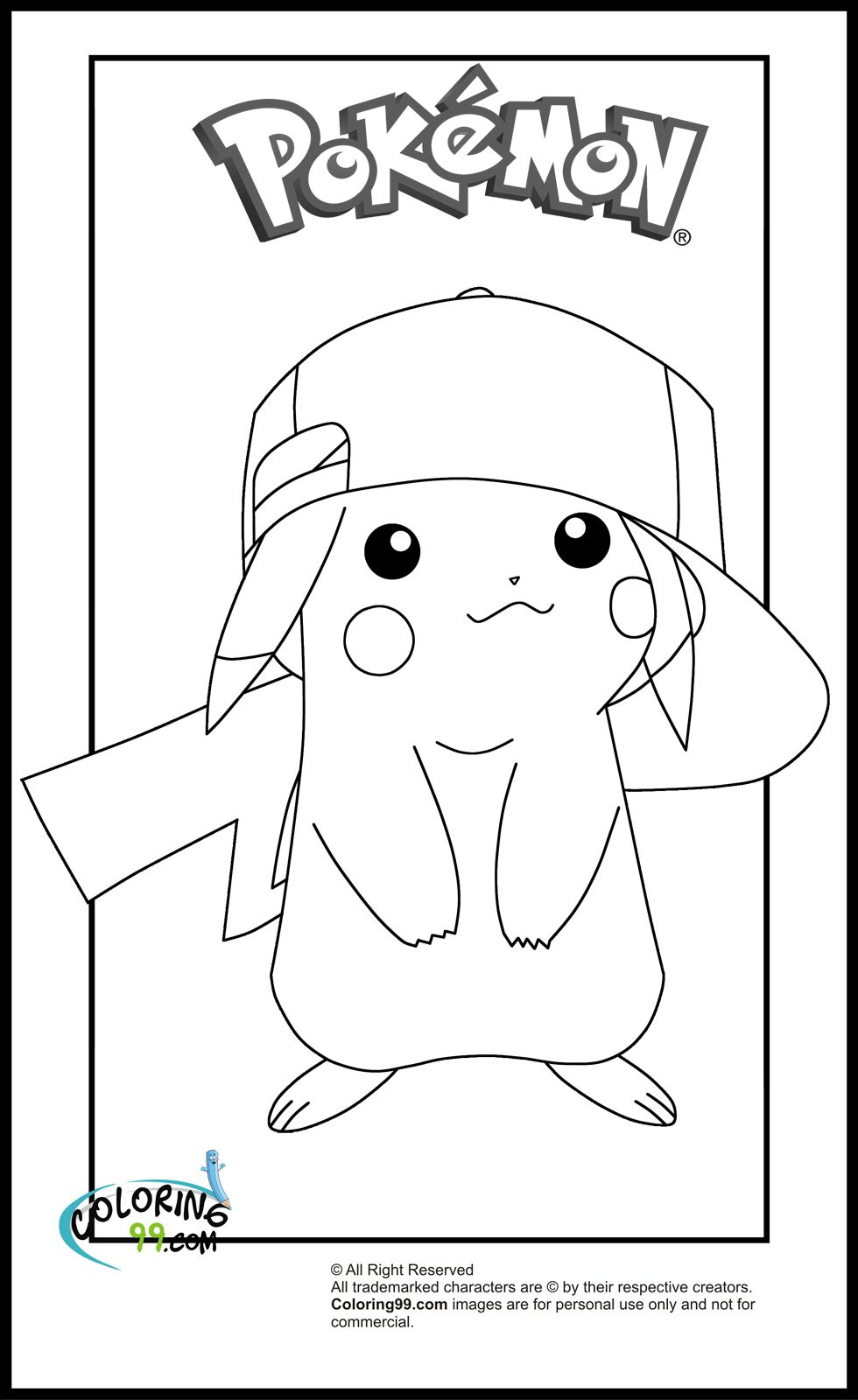 Eevee and pikachu coloring pages - Pikachu Coloring Pages Minister Coloring