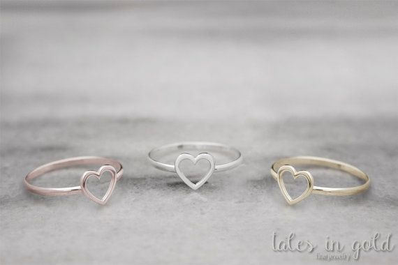 Heart Ring Gold Ring Valentine s Day 14 karat gold by TalesInGold