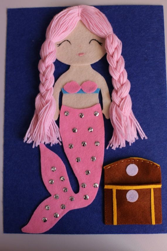 Mermaid Busy Book / Quiet Book Page by BusyFingersLearning on Etsy