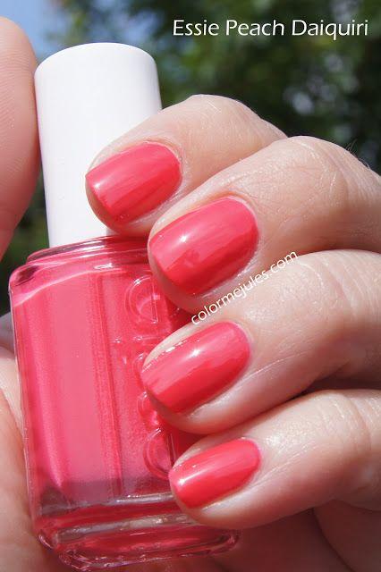 Essie Peach Daiquiri Awesome Coral Summer Color Peach Nails