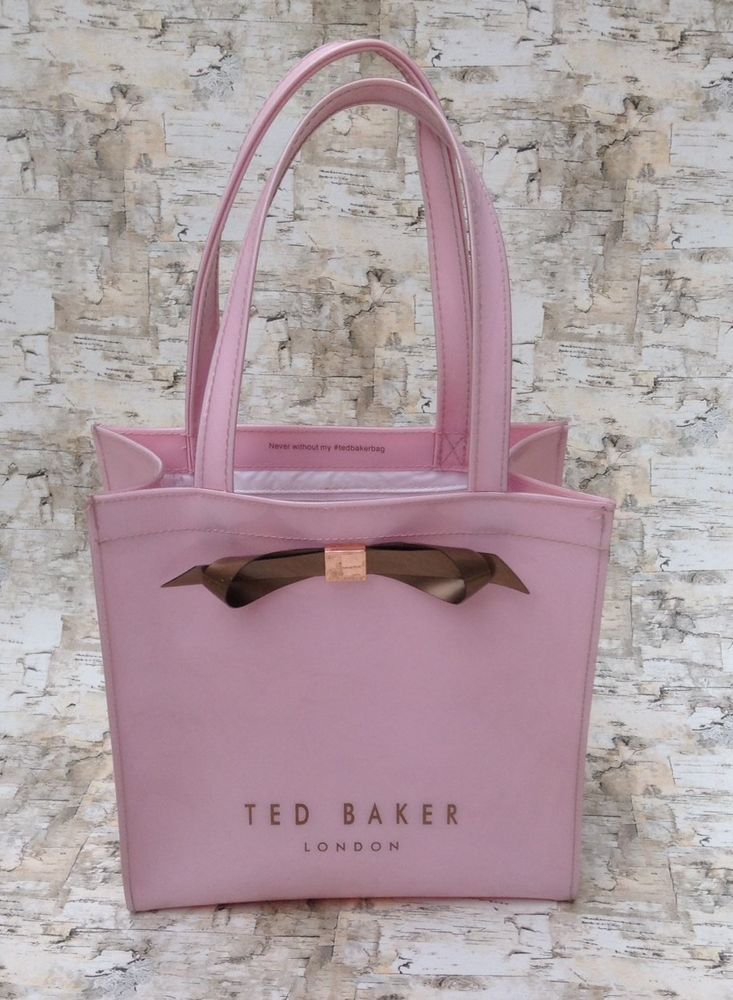 Ted Baker Bow Pink Per Bag C Clothing Shoes Accessories Women S