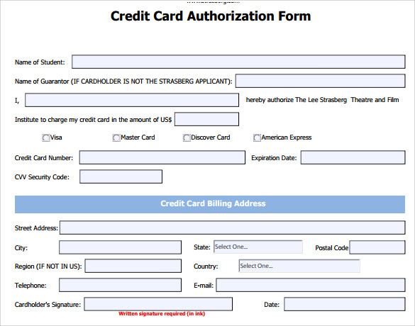 Free 7 Credit Card Authorization Forms In Pdf Pertaining To Credit Card Payment Form Template Pdf In 2021 Business Card Template Word Credit Card Card Template