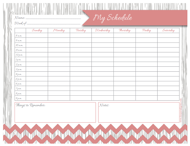 Free Daily Weekly Schedule Printables for the Whole Family – Daily Timetable