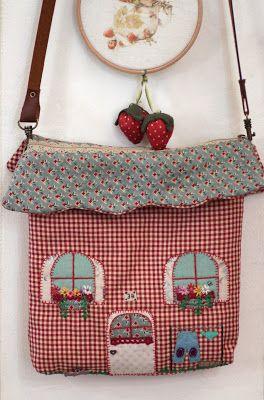Bolsa casa home sweet bag labores pinterest bolsos bolso ni a y bolsa para ropa - Bolsos de tela hechos en casa ...