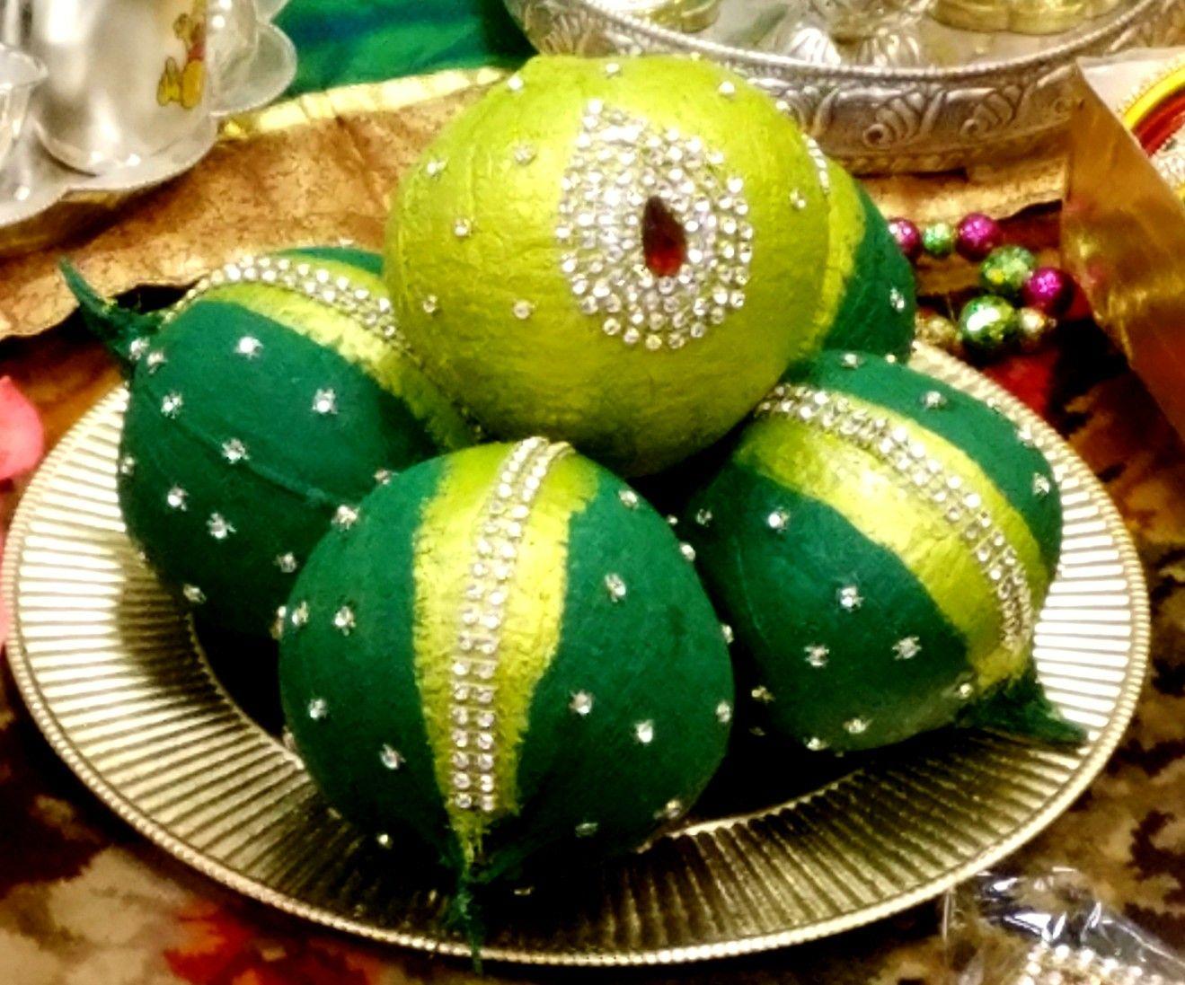 Real Nariyal Coconut Decoration Wedding Coconut Decoration Indian