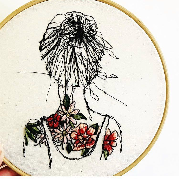 "Embroidery Inspiration on Instagram ""Embroidery Art by"