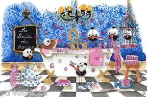 La salle de bains - translates to bathroom in french | Childrens art, Childrens illustrations ...
