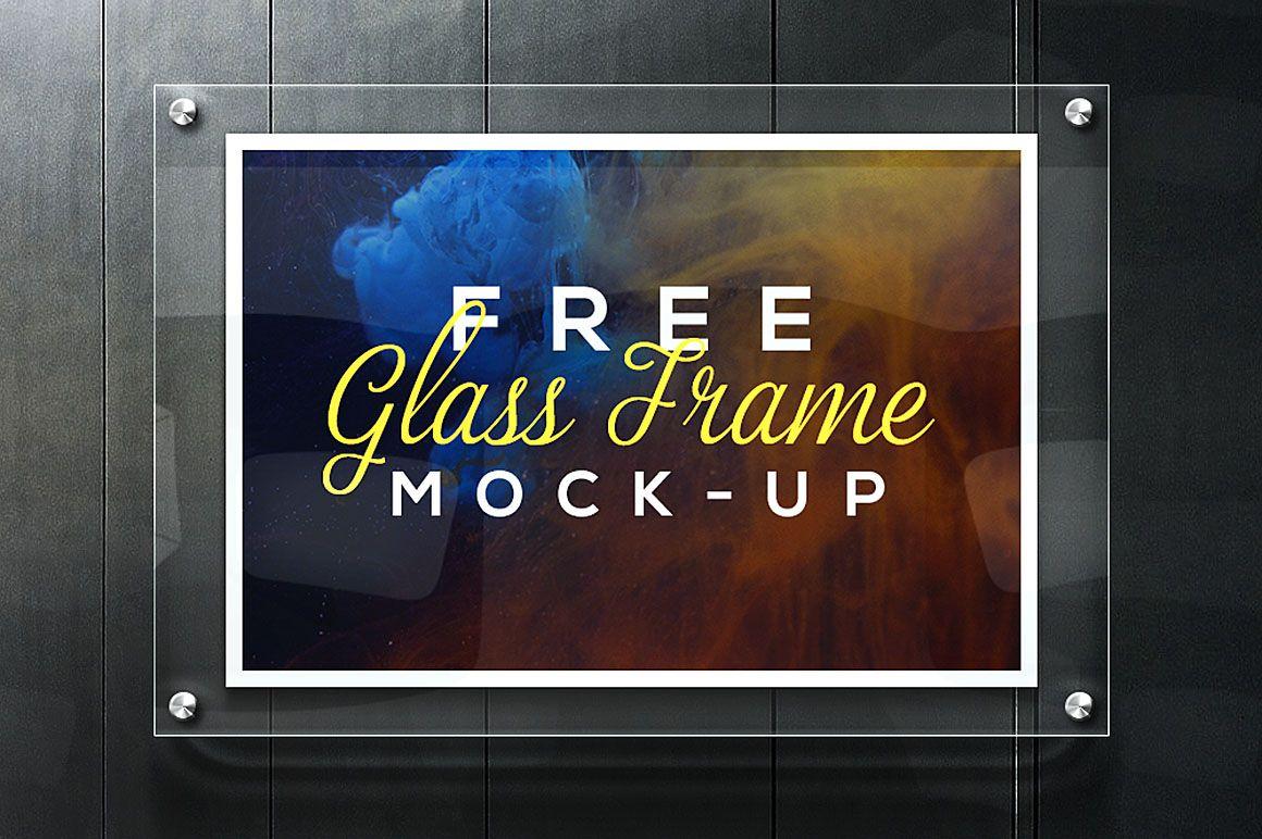 Free Glass Frame Mock Up Mockup Glass Signage